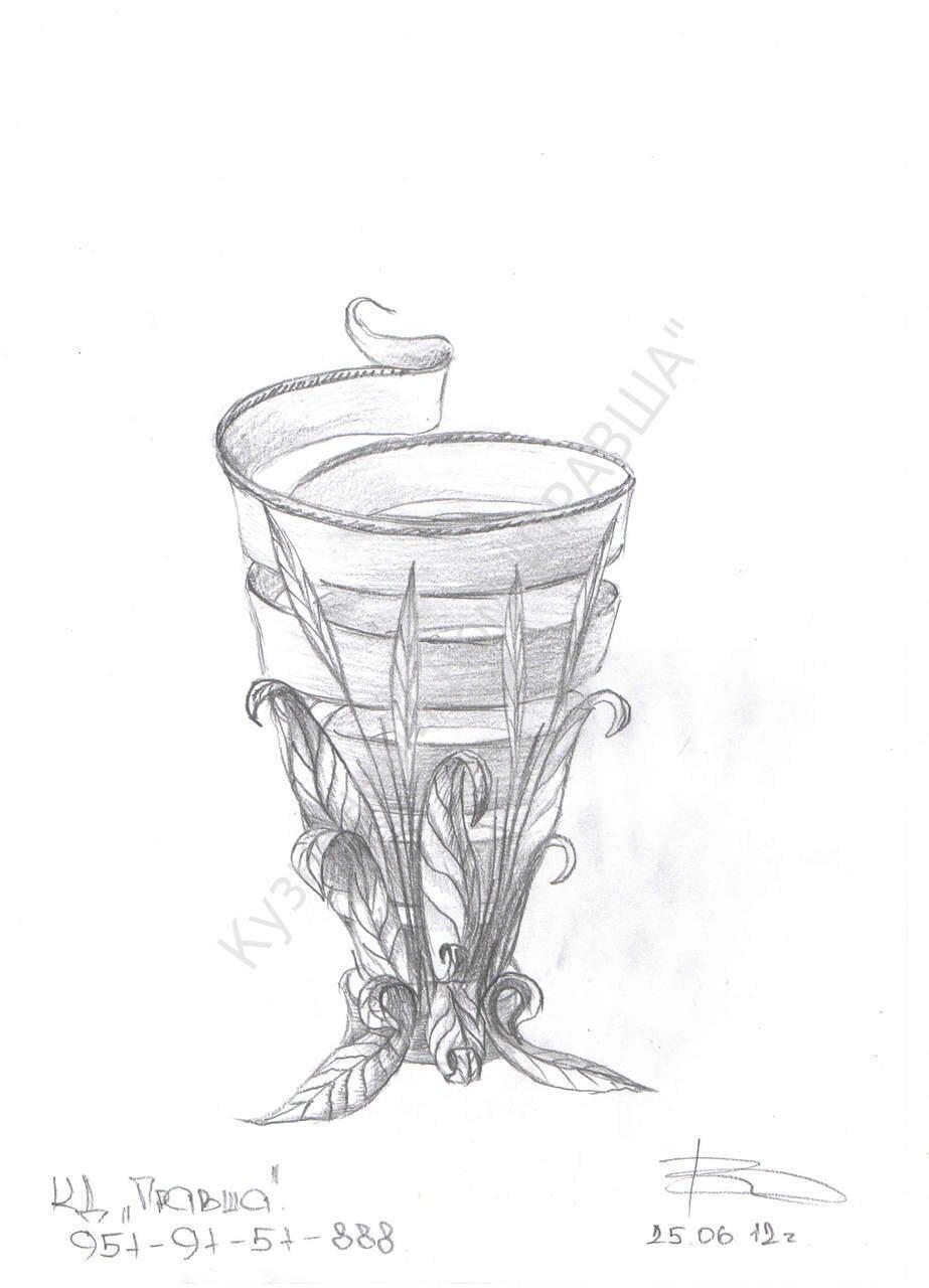 эскизы ваз:
